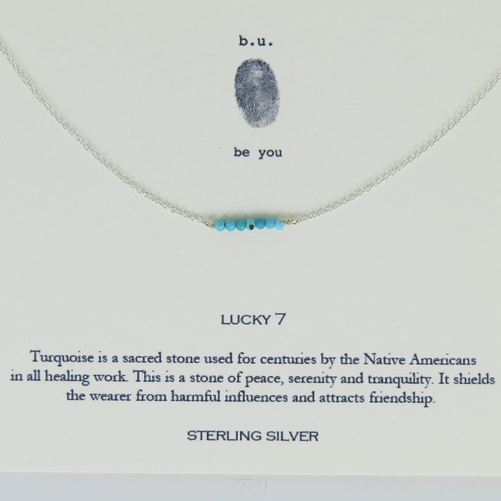 TURQUOISE LUCKY 7 NECKLACE