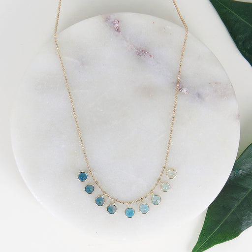BLUE OMBRE CLEO NECKLACE