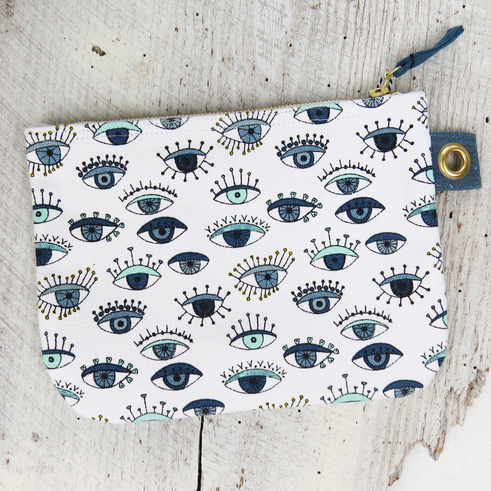 BIRD EYE LARGE ZIP POUCH