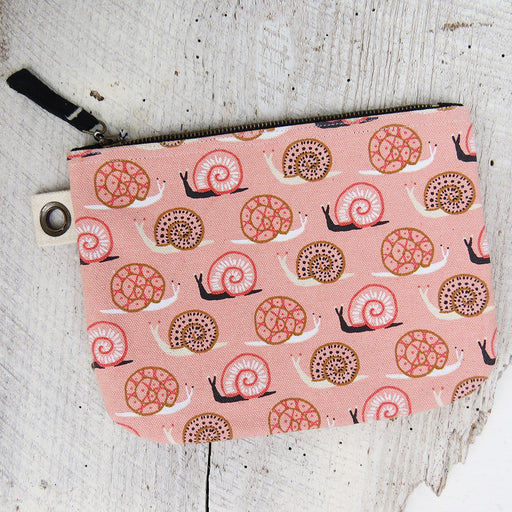 SMALL WORLD LARGE ZIP POUCH