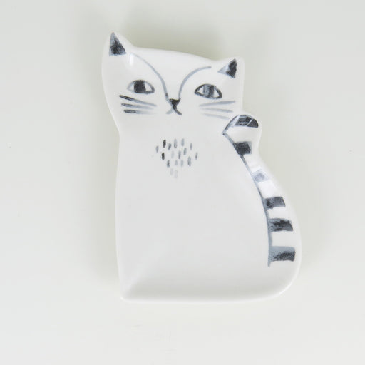CERAMIC CAT TRINKET TRAY