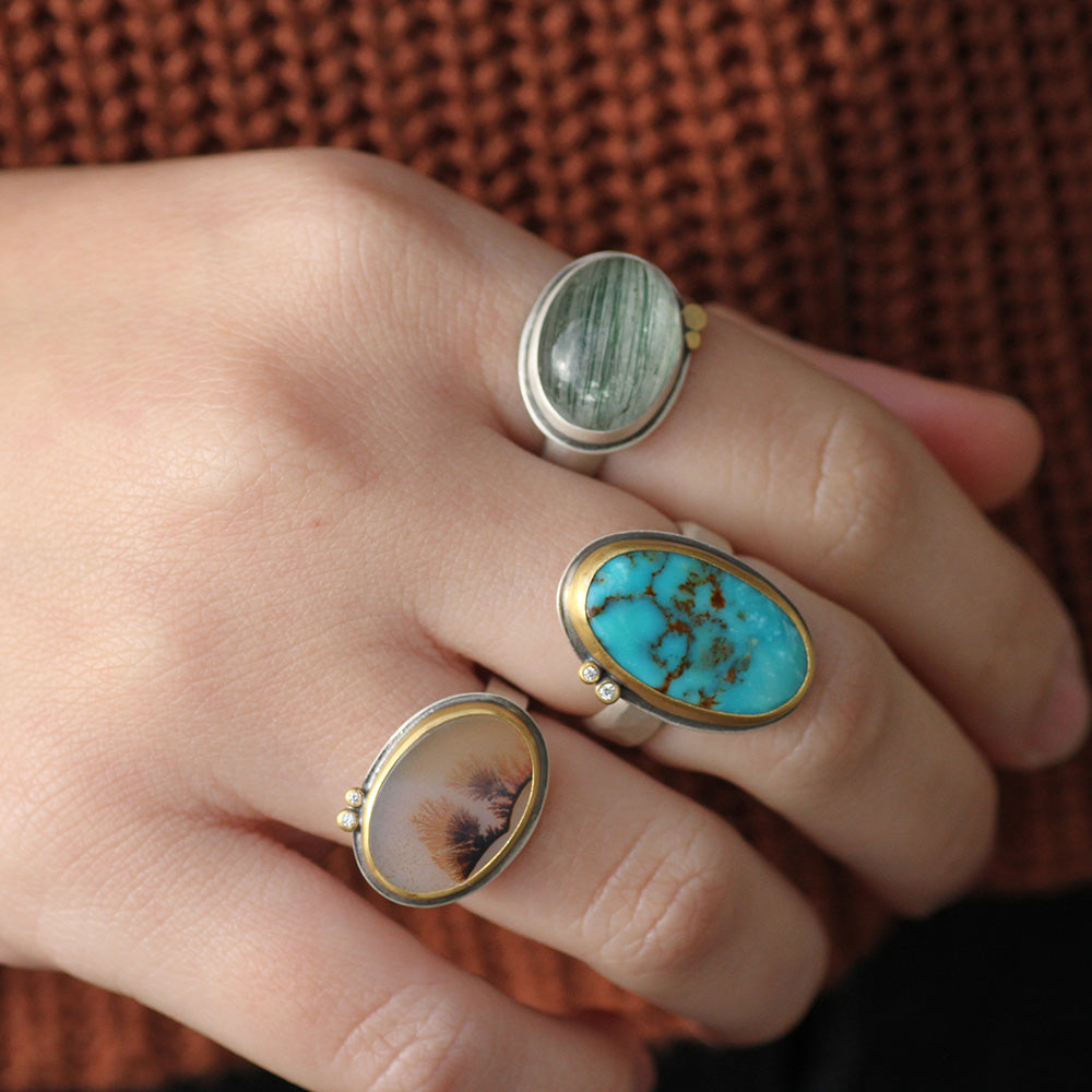 ONE OF A KIND OVAL SMOOTH TURQUOISE RING