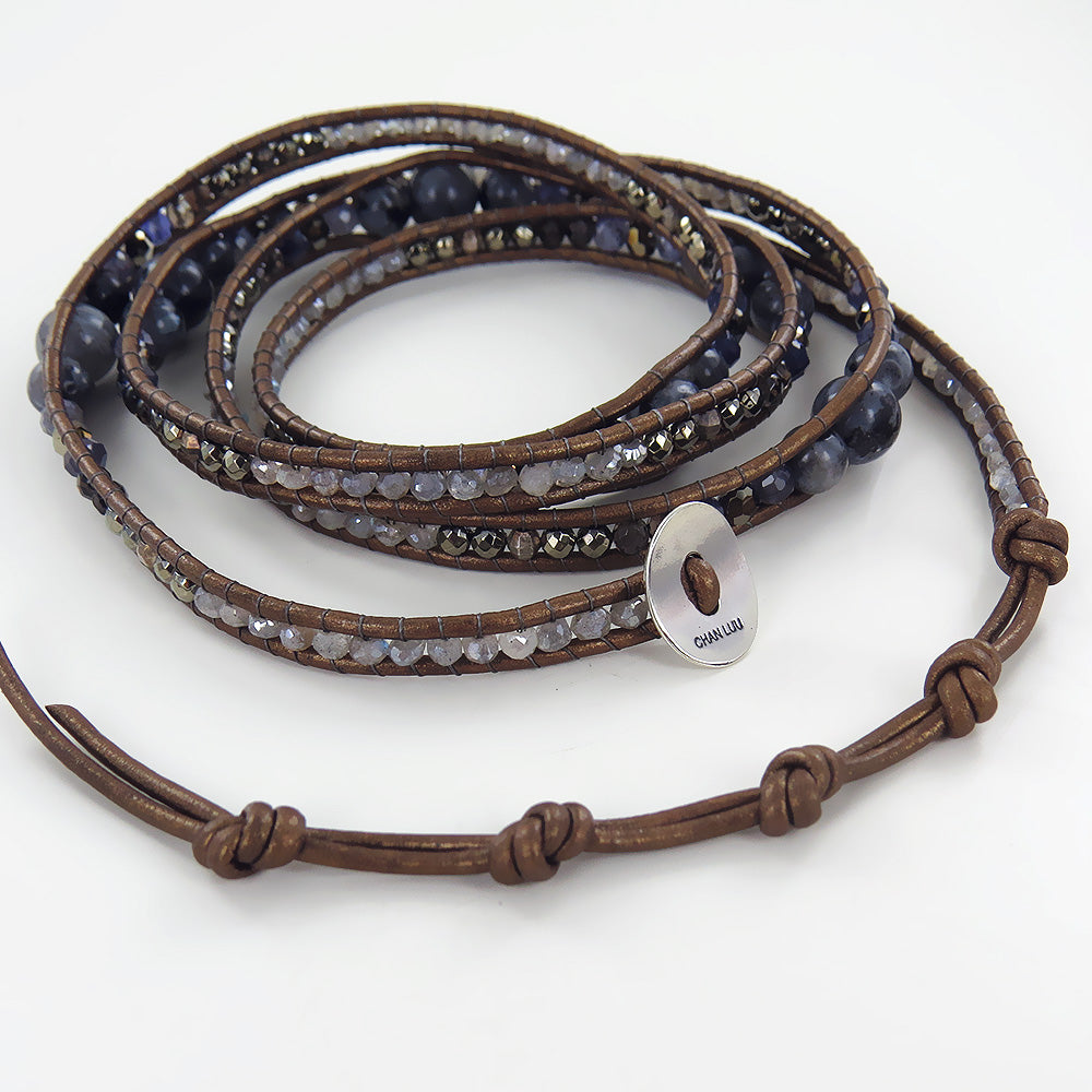 IOLITE MIX WRAP BRACELET