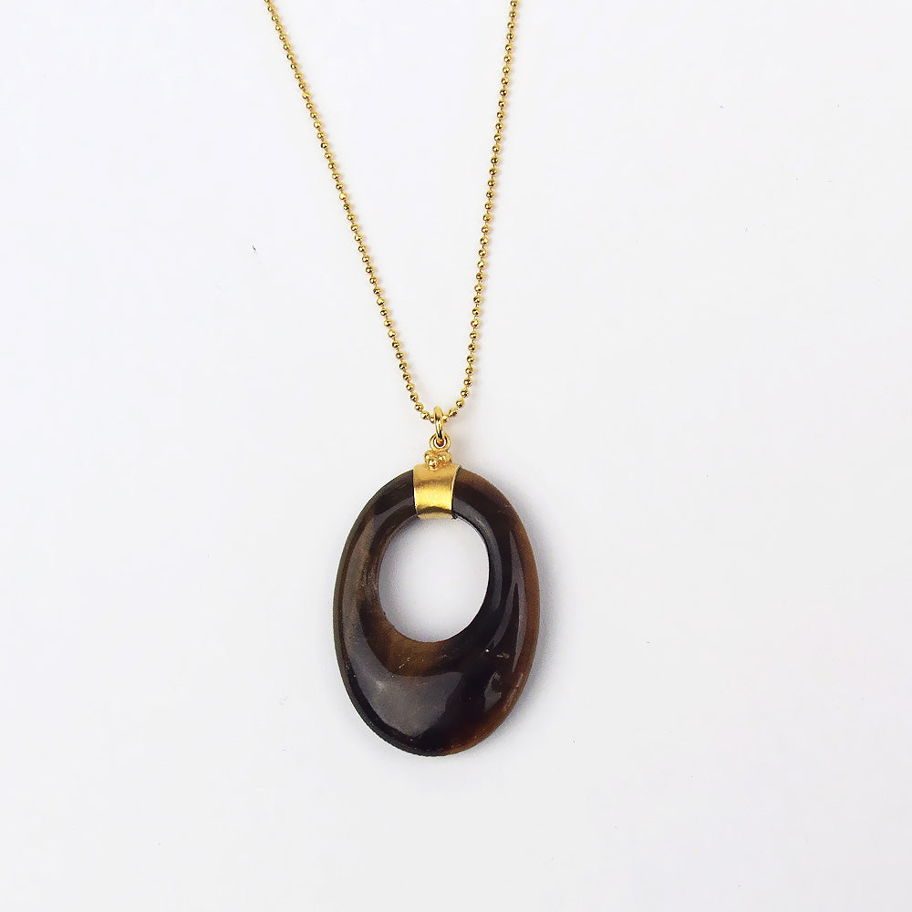 TIGERS EYE PENDANT NECKLACE