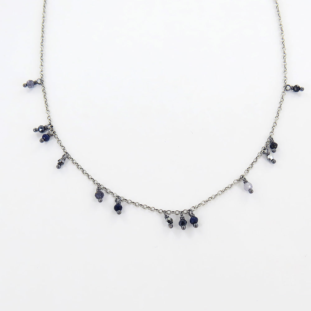 IOLITE MIX SHORT LAYERING NECKLACE