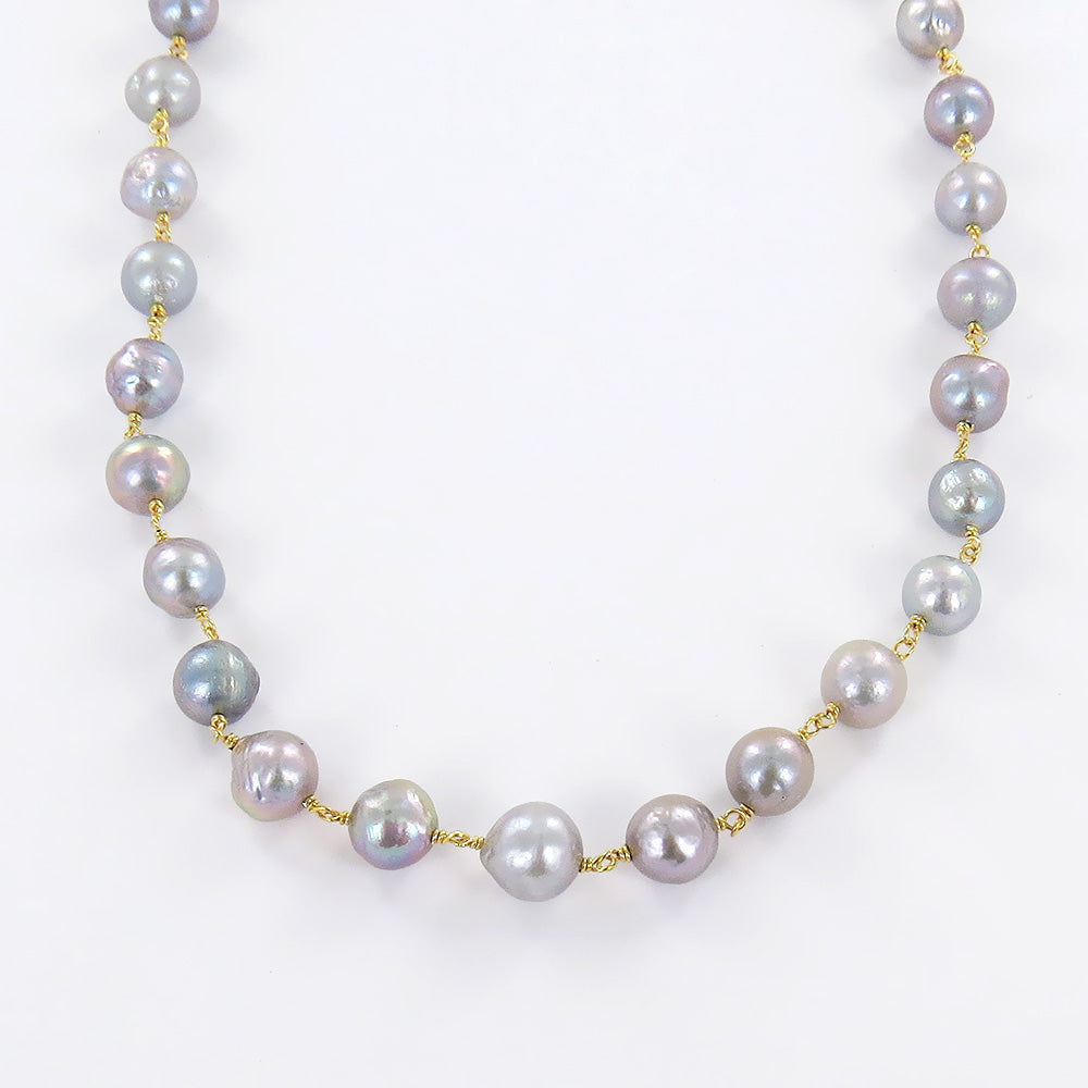 GREY FRESH WATER PEARLS NECKLACE