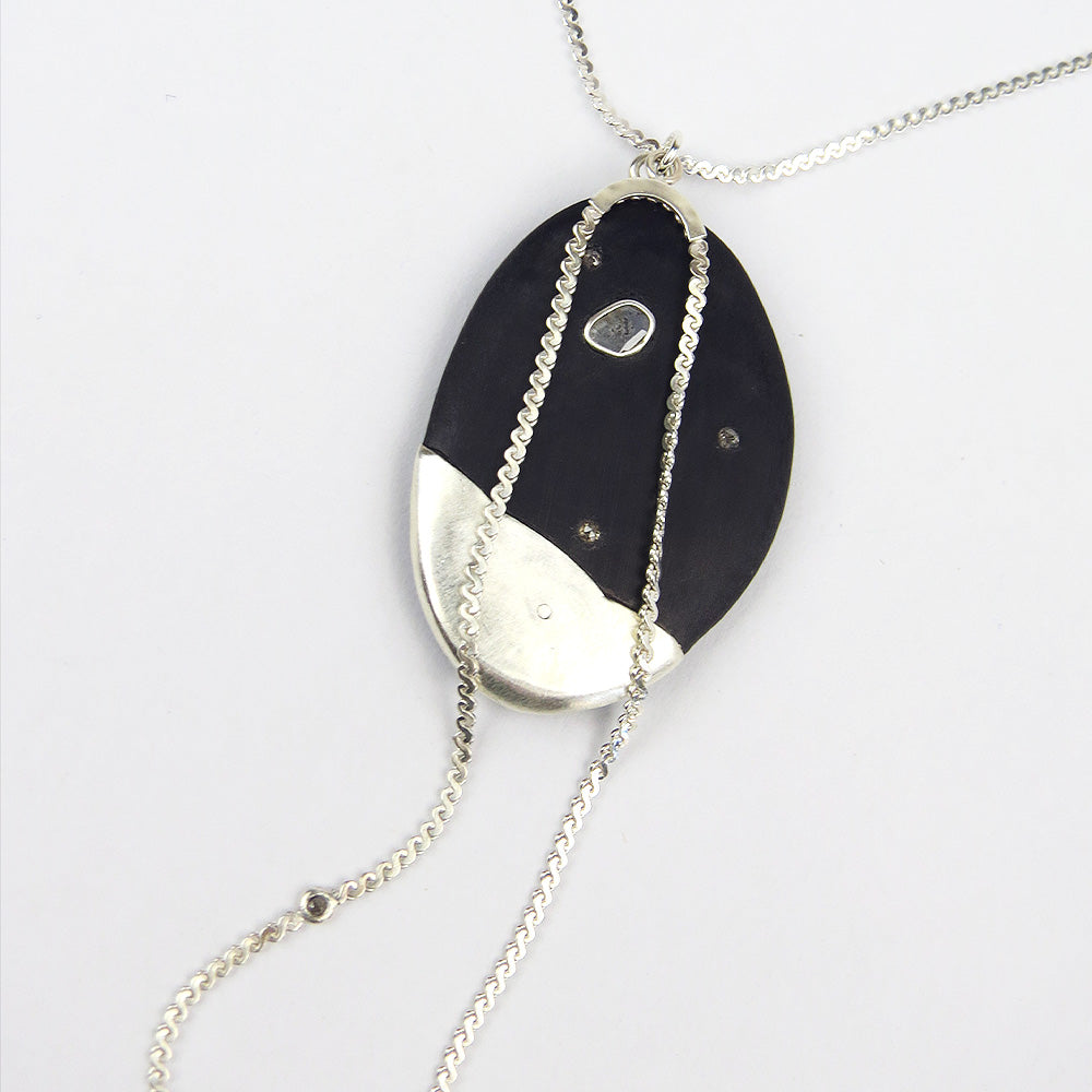 WATER BUFFALO HORN PENDANT NECKLACE