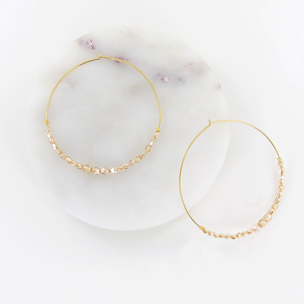 GOLDEN SHADOW HOOP EARRINGS
