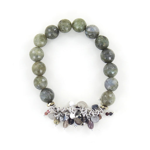 LABRADORITE MIX STRETCH BRACELET