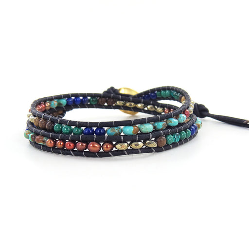 MULTI MIX DOUBLE WRAP BRACELET