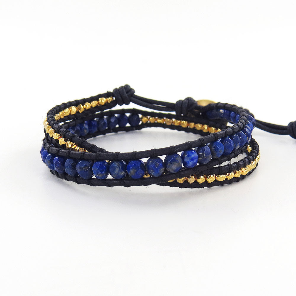 LAPIS MIX DOUBLE WRAP BRACELET
