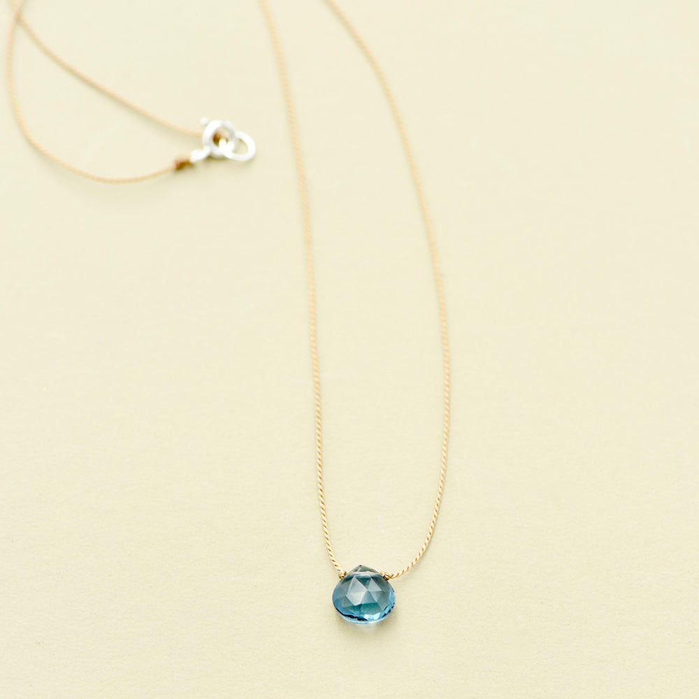 LONDON BLUE TOPAZ TEADROP NECKLACE