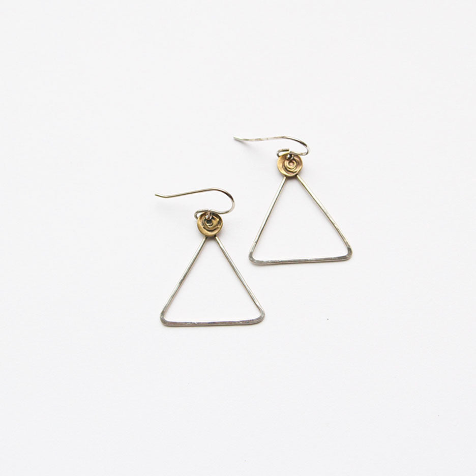 Silver Triangle Earring
