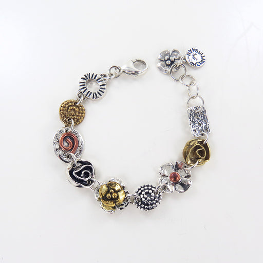 MIXED METAL CHARM BRACELET