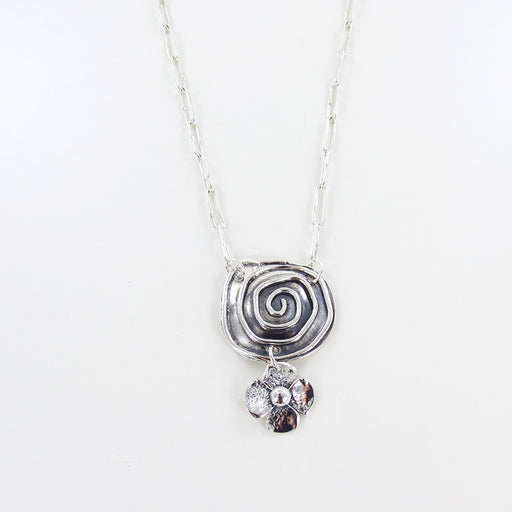 SPIRAL AND JENNA FLOWER NECKLACE