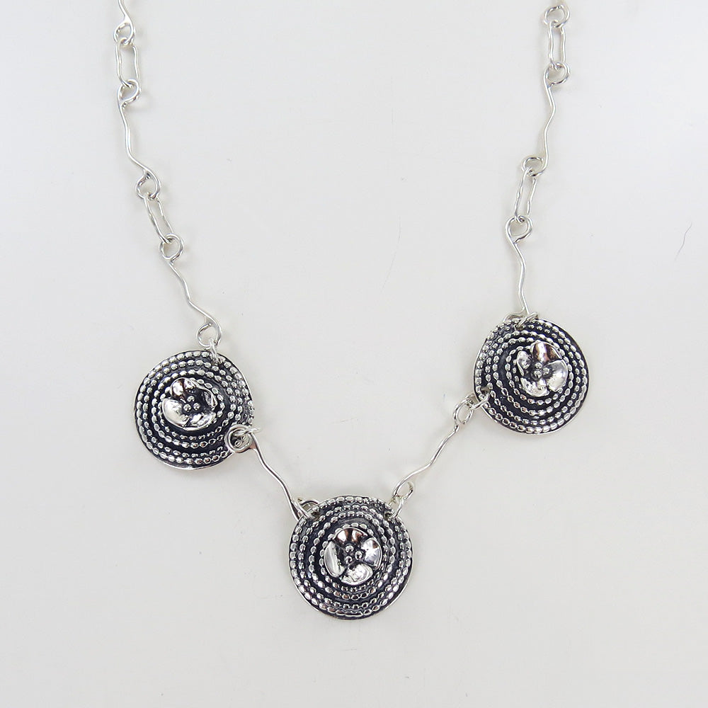 Beaded Spiral And Dogwood Flower Necklace Dandelion Jewelry