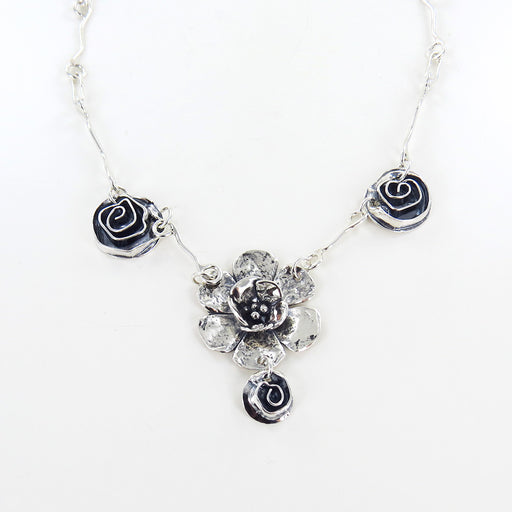 DOUBLE DOGWOOD AND ROSE NECKLACE