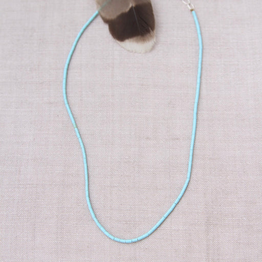 HEISHI NECKLACE WITH SMALL BLUE TURQUOISE
