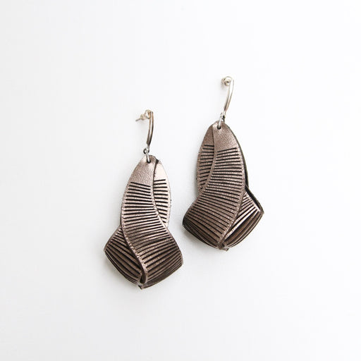 Bronze Cave Earrings
