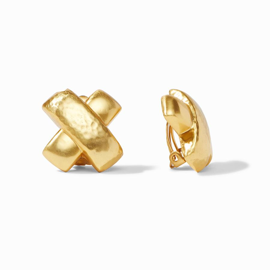 CATALINA GOLD X CLIP-ON EARRINGS