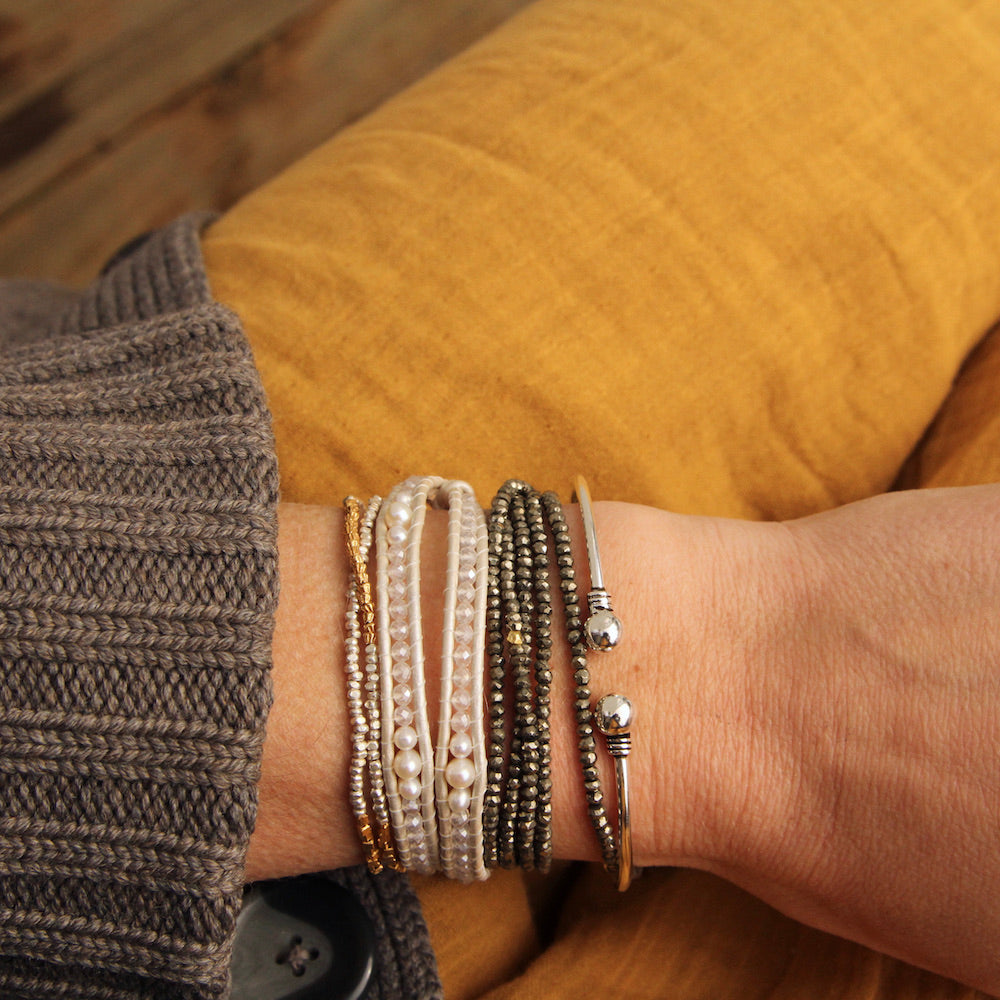 Thin Cuff with Bali Details