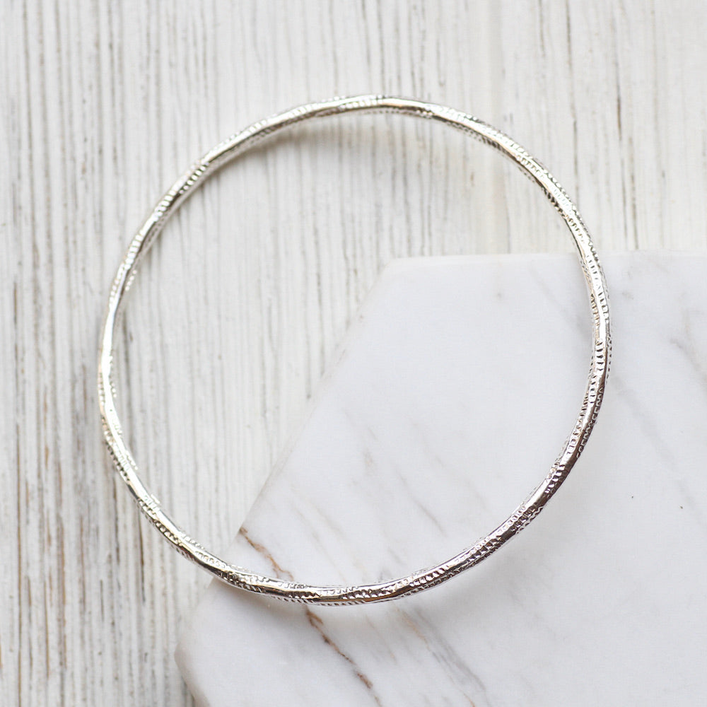 Twisted Patterned Bangle