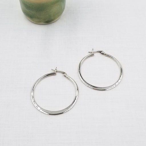 35mm STERLING SILVER HOOP