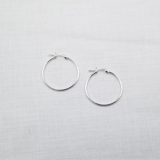 30mm STERLING SILVER HOOP