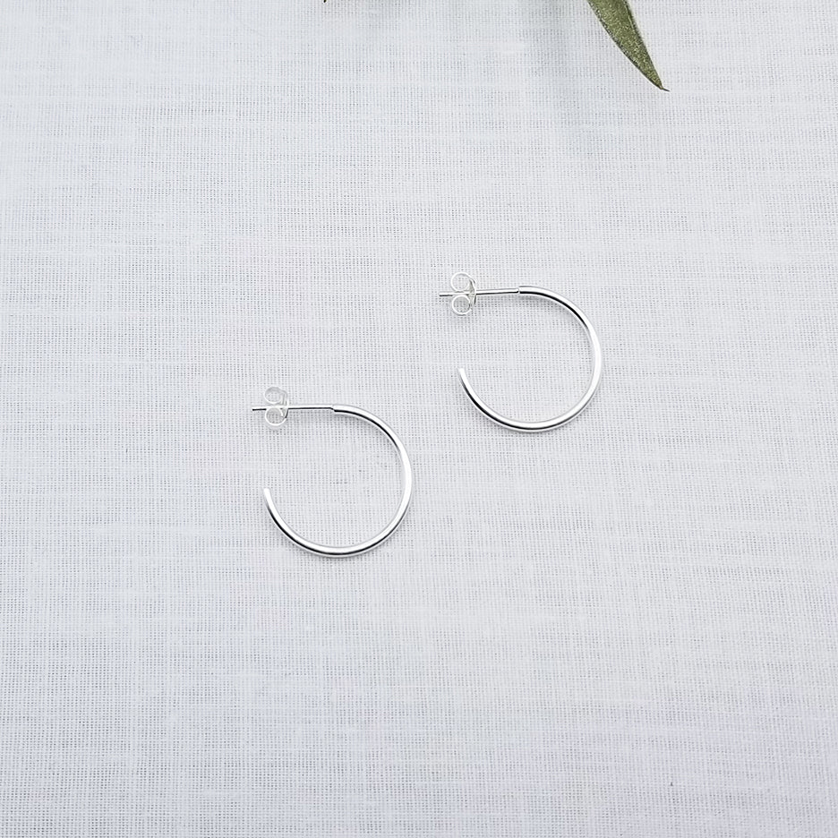 20mm STERLING SILVER HOOP