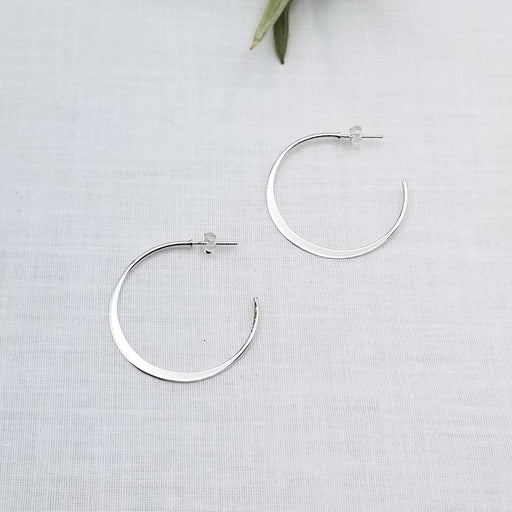 40mm STERLING SILVER THIN FLAT HOOP