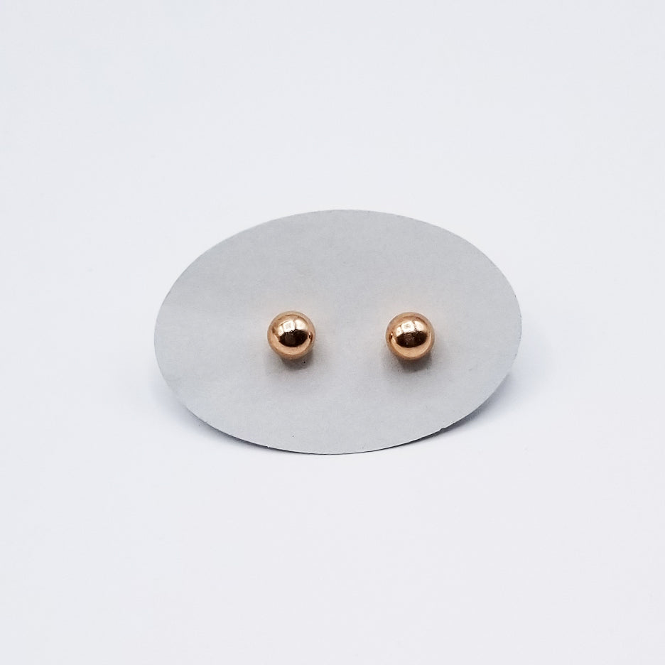 6mm ROSE GOLD PLATED STERLING SILVER BALL