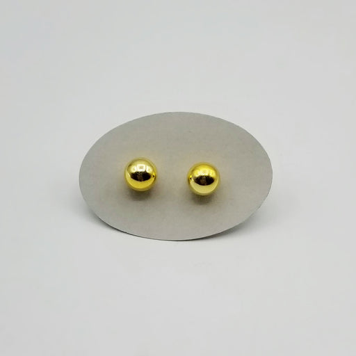 8mm GOLD PLATED STERLING SILVER BALL
