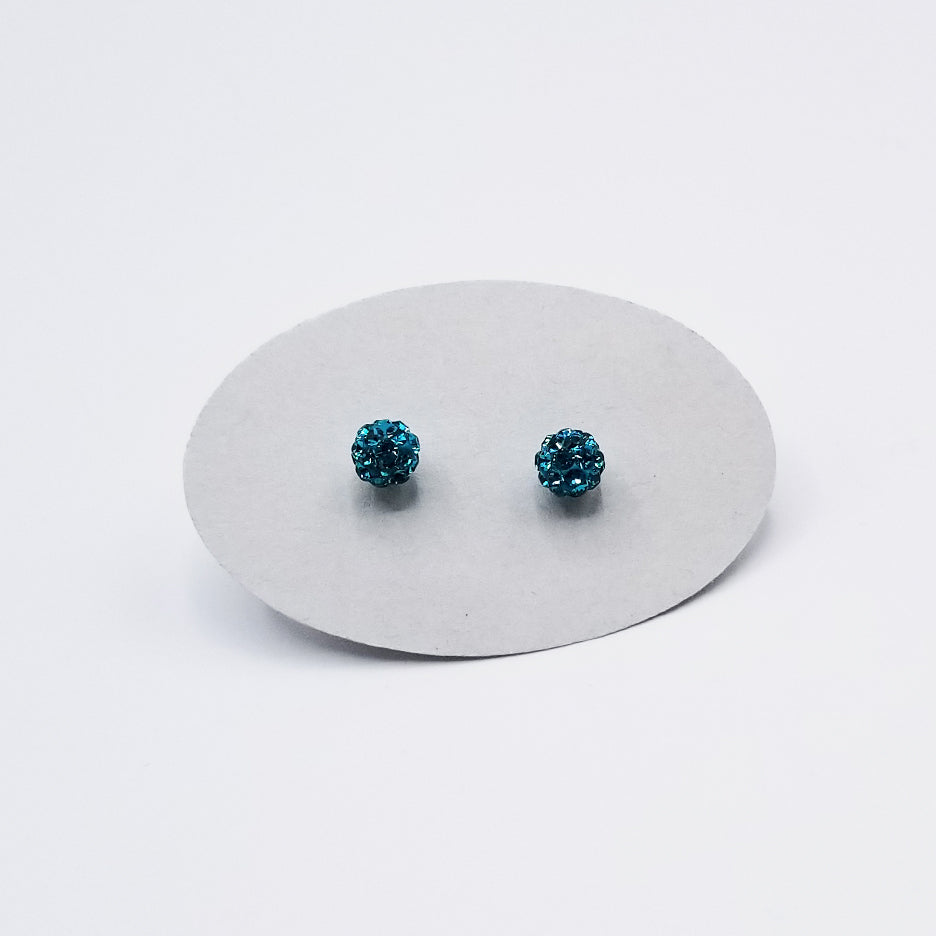 5mm SPARKLY TEAL CRYSTAL BALL