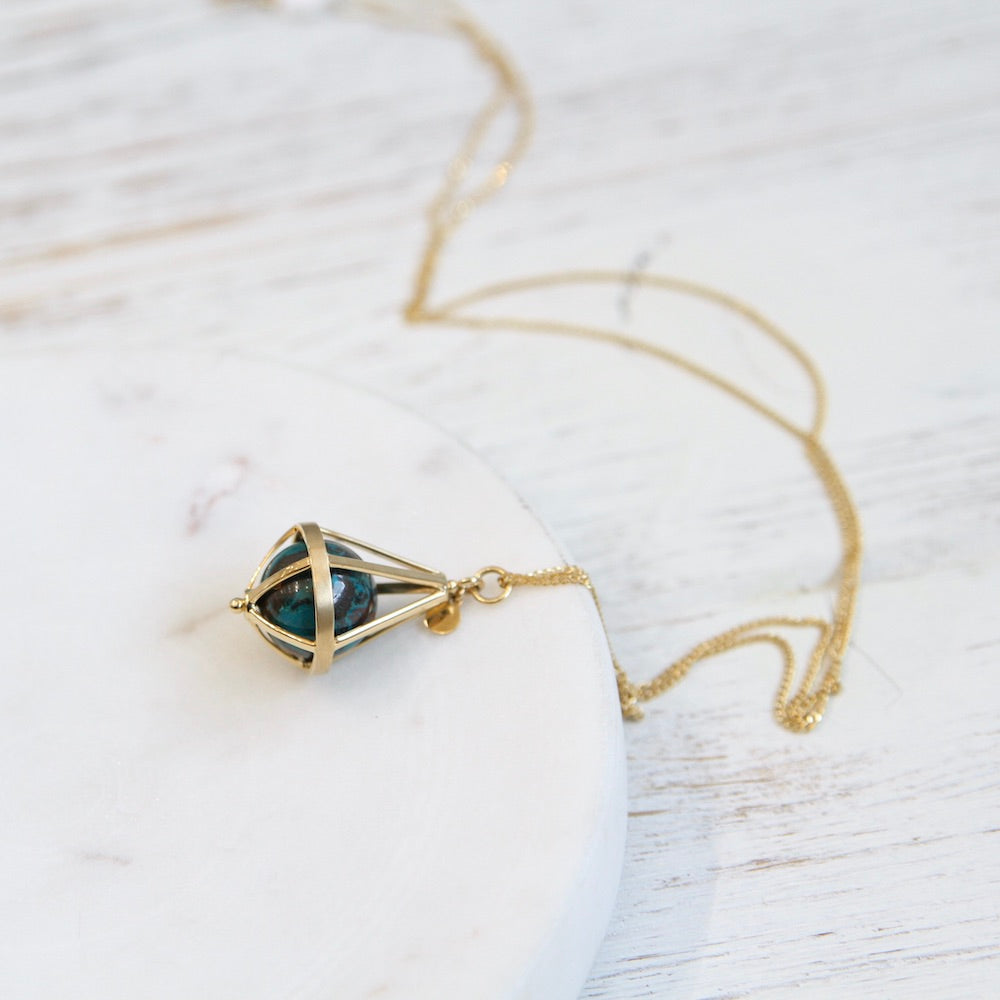 Pentagonal Cage Necklace