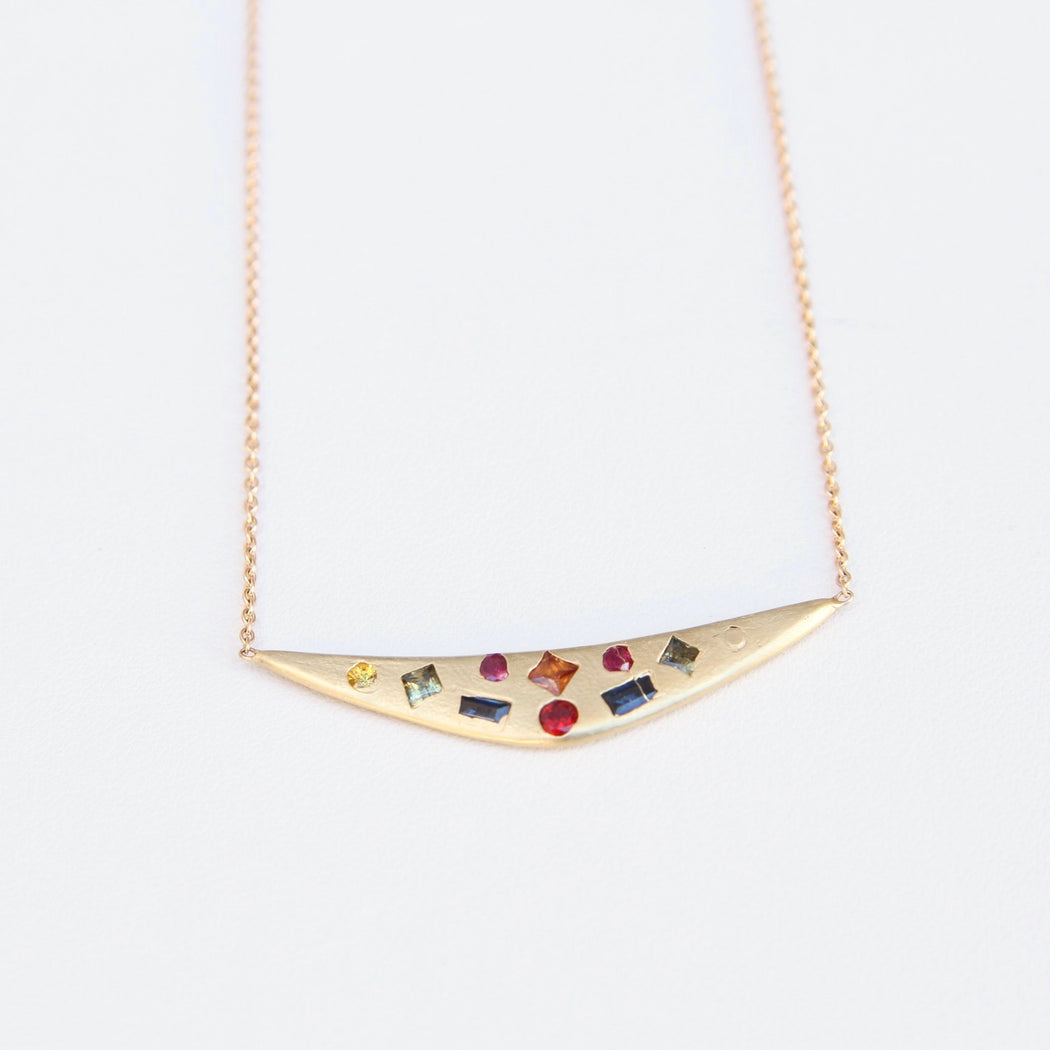 Polly Wales Rainbow Swallows Dive Necklace