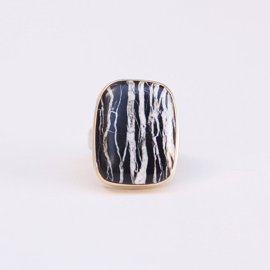 JAMIE JOSEPH RECTANGULAR BUFFALO TURQUOISE RING