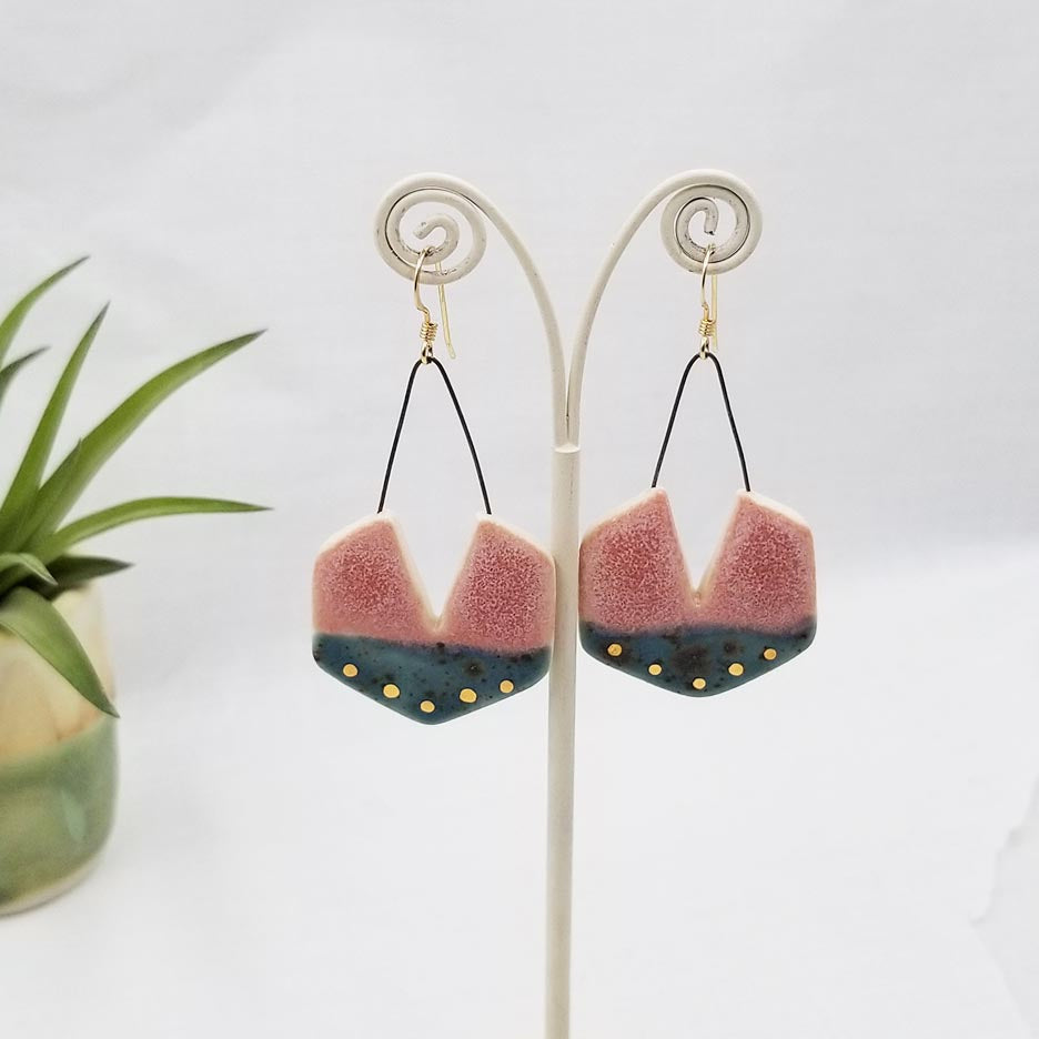 MEDIUM HEXAGON EARRINGS