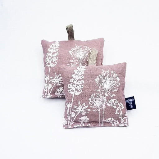 DUSTY PINK LINEN GARDEN LAVENDER BAG -  X2