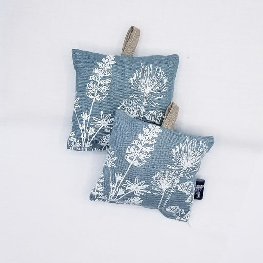 DUCK EGG BLUE LINEN GARDEN LAVENDER BAG - X2