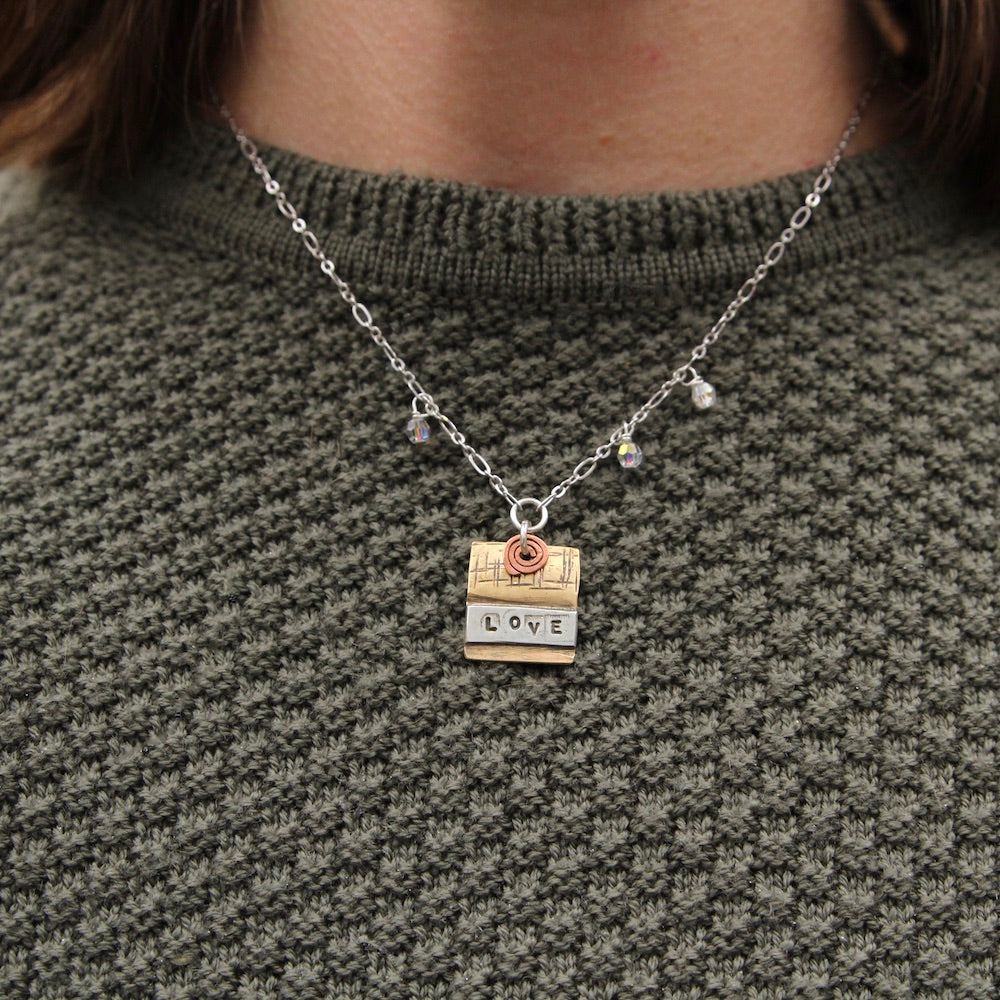 "Mixed Metal ""Love"" Necklace"