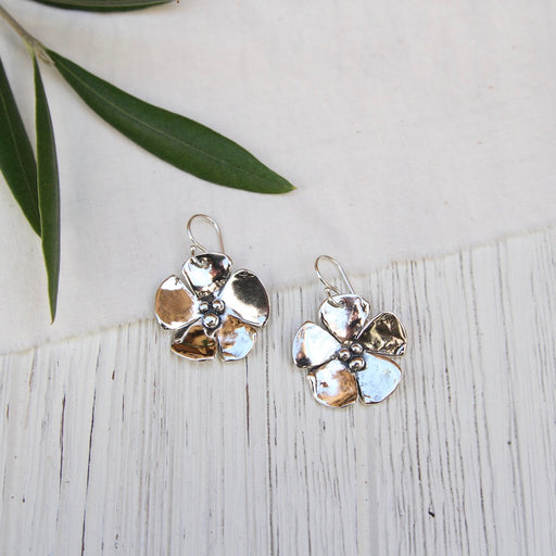 Single Dogwood Flower Drop Earring