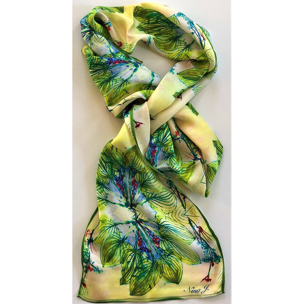 Leaf Crown Silk Scarf