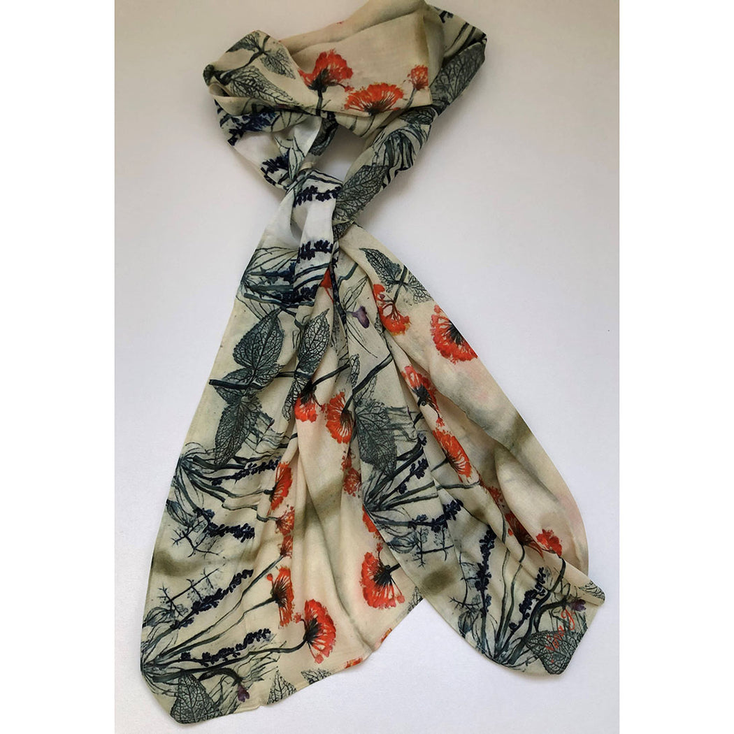 Fall Garden Cotton Scarf