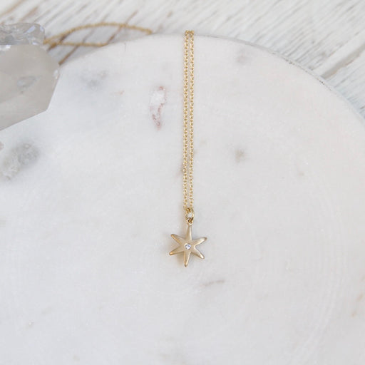 "18k Yellow Gold ""Celestial"" Diamond Star  Necklace"