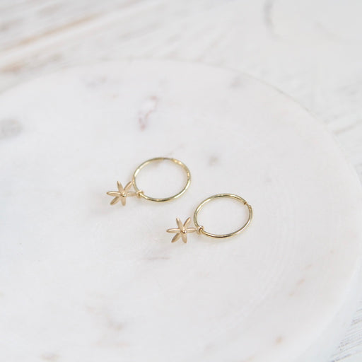 Sleeper Hoop Earring w/ Mini Star