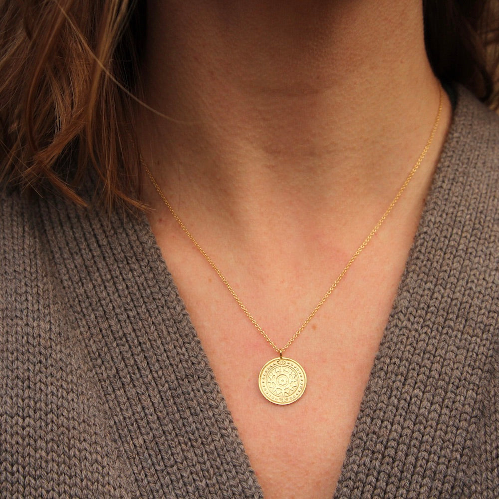 Gold Virginia Sun Necklace