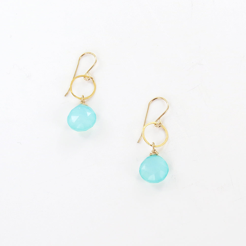 CHALCEDONY LOOP EARRINGS