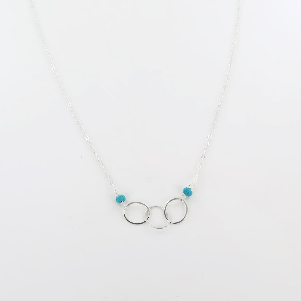 TURQUOISE LOOPED NECKLACE