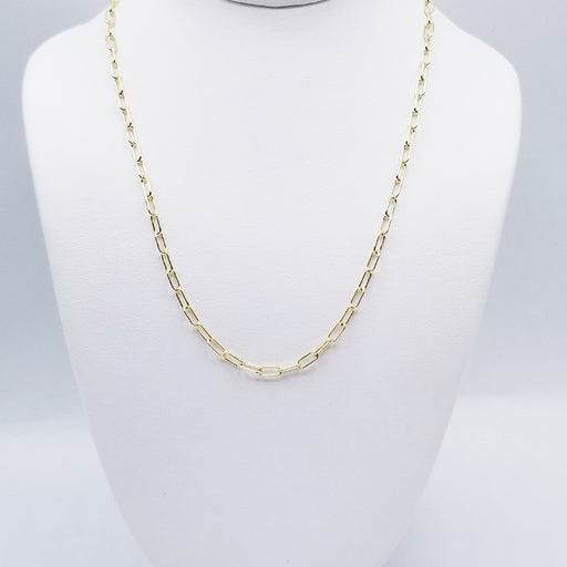 "20"" YELLOW GOLD OPEN LINK CHAIN"