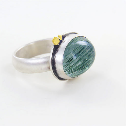 SMOOTH TOURMALATED QUARTZ RING